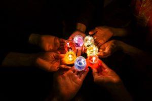 candele colorate